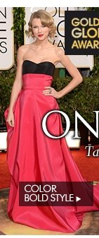 BEST 5 STYLES ON THE RED CARPET Take a look at some of the night's standout celebrity trends COLOR BOLD STYLE
