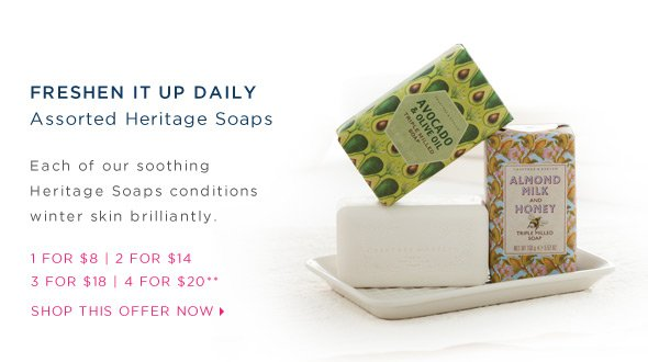 Special Offer on Heritage Soaps.