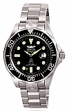 Invicta 3044 Men's Automatic Grand Diver Black Dial Stainless Steel Watch