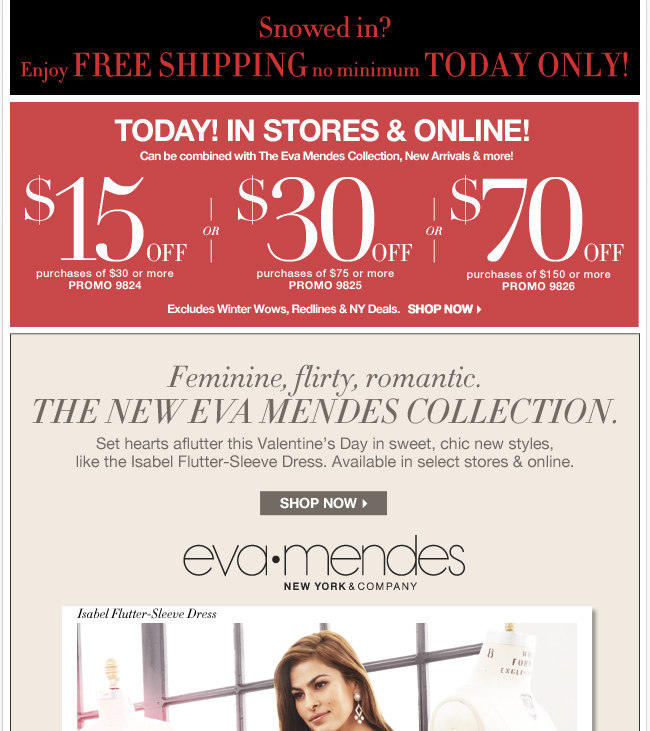 Shop the New Eva Mendes Collection.