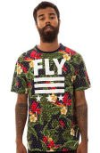 The Born Fly Floral Tee in Navy