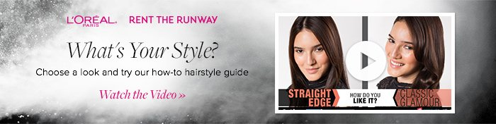 What's Your Style? Watch our hairstyle guide!