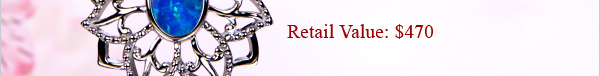 FREE ''Unfading Love'' Arabian Jasmine Black Opal & Blue Sapphire Pendant