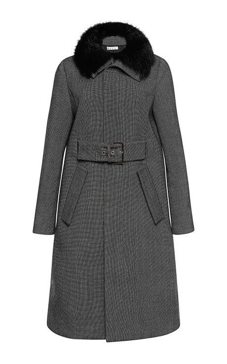 Micro Weave Wool Coat