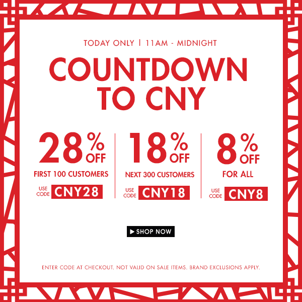 CNY Countdown Sale!