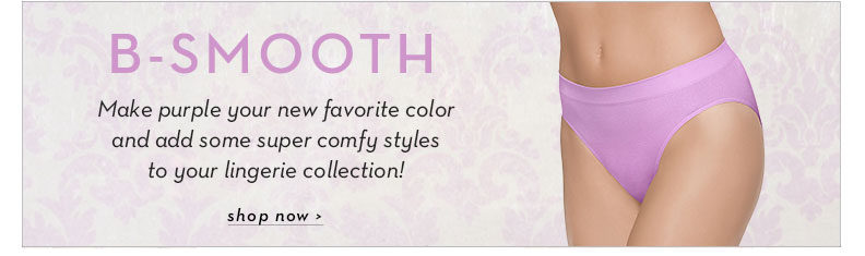 B-Smooth Panties Now in Violet Tulle