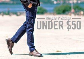 Shop Chinos & Cargos Under $50