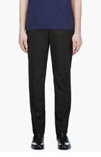 MAISON MARTIN MARGIELA Black Cropped Wool Trousers for men