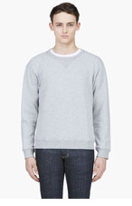 MAISON MARTIN MARGIELA Heathered Grey Elbow Patch Sweater for men