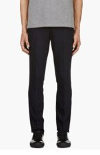 PAUL SMITH Navy & magenta pleated trousers for men
