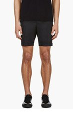 PAUL SMITH LONDON Navy Pleated Classic Shorts for men