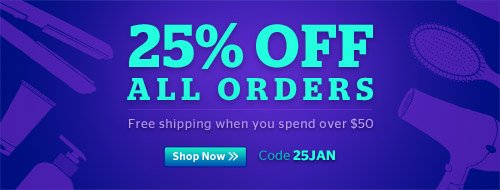 25% Off All Orders