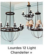 Lourdes 12 Light Chandelier