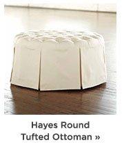 Hayes Round Tufted Ottoman