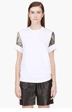 GIAMBATTISTA VALLI White contrast-sleeve t-shirt for women