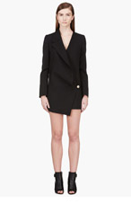 VERSUS Black asymmetric-drape JW Anderson edition dress for women