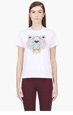 KENZO White Tiger Head T-Shirt for women