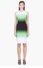 JONATHAN SAUNDERS Green, Black & Ivory Strapless Crewneck Dress for women
