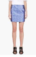 RICHARD NICOLL Blue Python Jacquard Mini Skirt for women