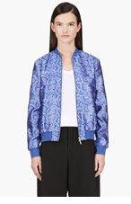 RICHARD NICOLL Python Jacquard Jersey Bomber Jacket for women
