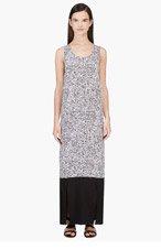 RICHARD NICOLL Black & White Crepe De Chine Maxi Dress for women