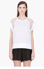 GIAMBATTISTA VALLI Grey Georgette raglan shirt for women