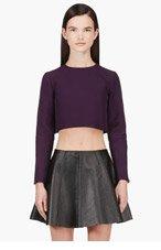 MARNI Plum Purple Cropped Blouse for women