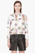 GIAMBATTISTA VALLI White Floral Print Bomber Jacket for women