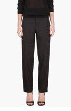 MARNI Black Racing stripe Trousers for women
