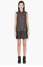 RICHARD NICOLL Grey & Black Sleeveless Biker Dress for women