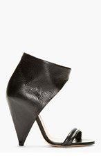 IRO Black Leather High-Top Heels for women