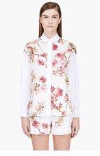 GIAMBATTISTA VALLI White Floral Silk Panel Blouse for women