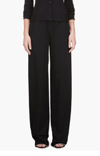 CALVIN KLEIN COLLECTION Black Telma Fluid Panama Lounge Pants for women