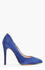 IRO Blue Suede Pointed Pumps for women