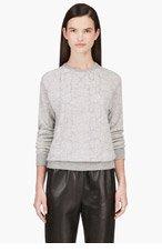 RICHARD NICOLL Grey Python Pattern Knit Sweater for women