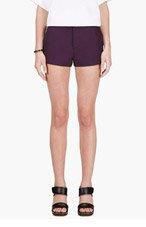 MARNI Plum pleated Shorts for women