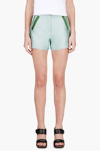 OSTWALD HELGASON Mint And Forest Green/Grey Shorts for women
