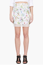 GIAMBATTISTA VALLI White layered floral hand-embroidered brocade dress for women