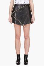 KENZO Black Leather k-zip Skirt for women
