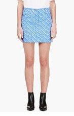 KENZO Periwinkle & White Denim Skirt for women