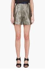ROKSANDA ILINCIC Grey Metallic Francine Shorts for women