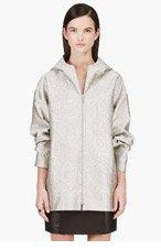 RICHARD NICOLL Grey Reversible Hooded Python Pattern Jacket for women