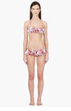 KENZO Red & Green Ruffle Bikini for women