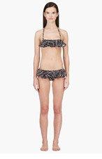 KENZO Black & White Ruffle Bikini for women