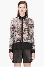 GIAMBATTISTA VALLI Black silk polka dot blouse for women