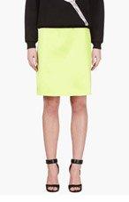 JONATHAN SAUNDERS Acid Green A-Line Skirt for women