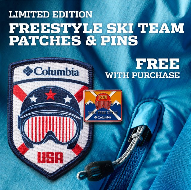 LIMITED EDITION FREESTYLE SKI TEAM PATCHES & PINS, FREE WITH PURCHASE