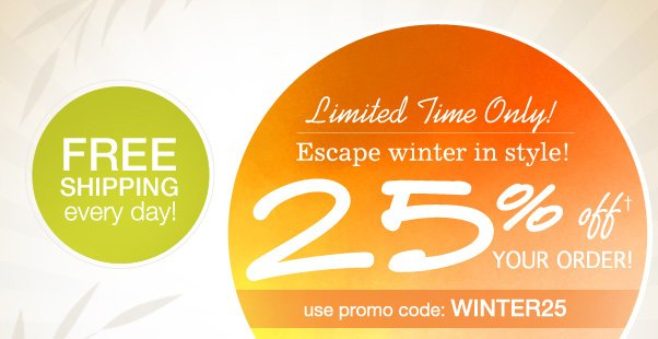 25% Off - Enticing Winter Escape!