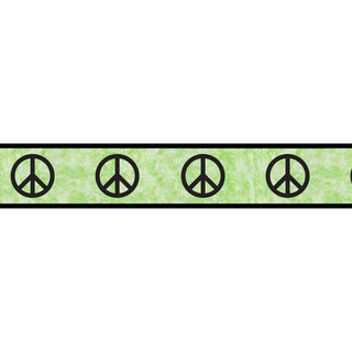 Sweet JoJo Designs Lime Groovy Peace Sign Wall Border