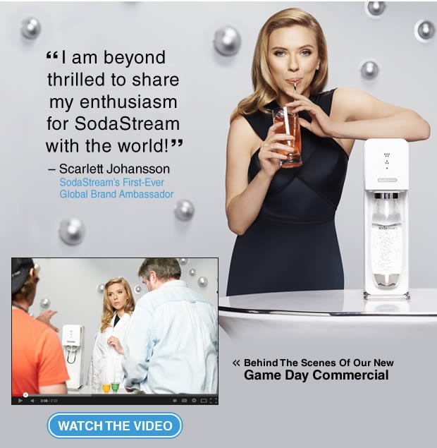 I am beyond thrilled to share my enthusiasm for SodaStream with the world! - Scarlett Johansson